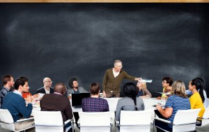 Group of Diverse People Listening to the Speaker