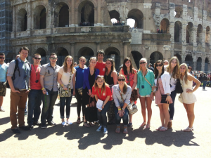 John Cabot University students on a learning field trip in Rome