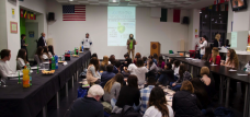 JCU students attend a presentation by Oxfam, an international NGO located in Rome