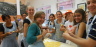 JCU students making pasta in one of the Cultural Program's Italian cooking classes