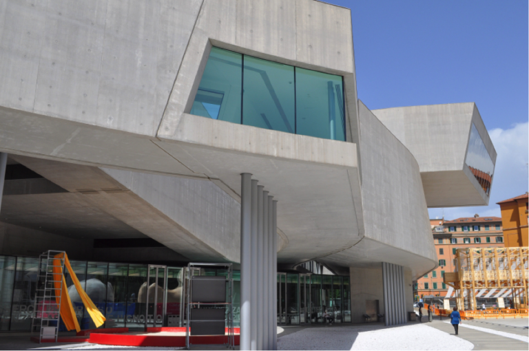 A view of the Maxxi, designed by famous Iraqui-British architect Zaha Hadid