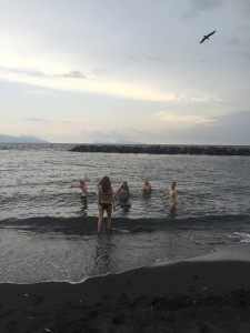 Black sand beach in Torre del Greco