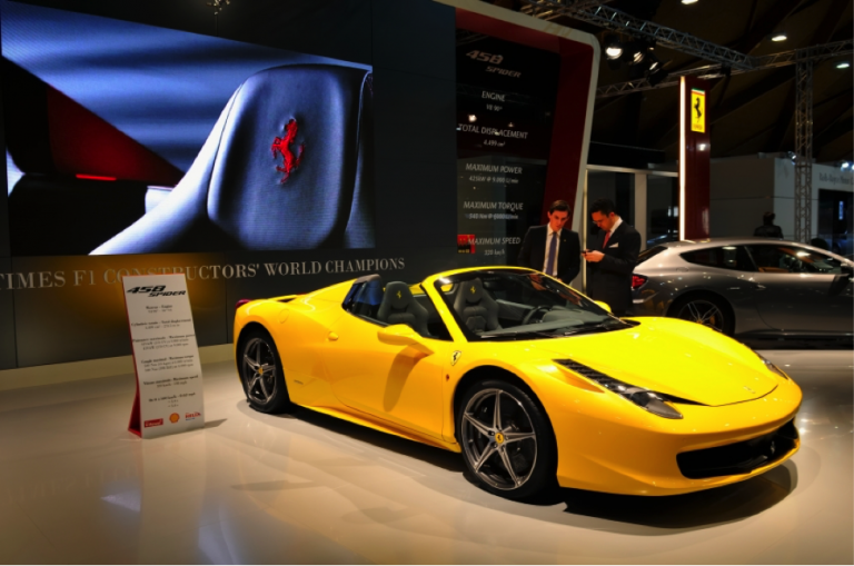 This Ferrari traveled to Brussels for the 2012 Brussels Motor Show