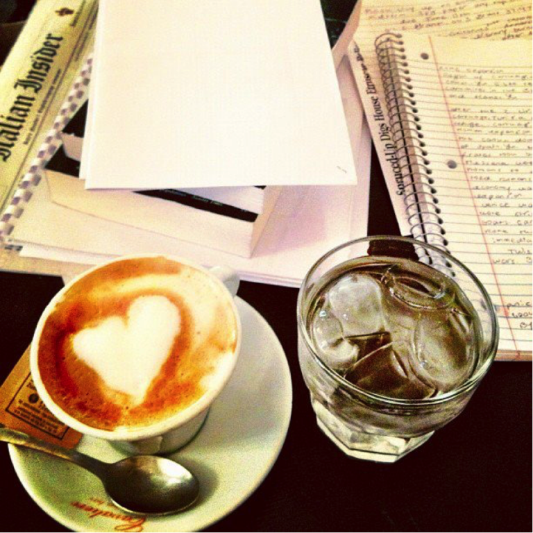 A warm cappuccino is the perfect complement to a rainy day in Rome