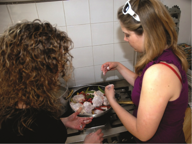 Students learn how to make authentic Italian dishes in a John Cabot University cooking class