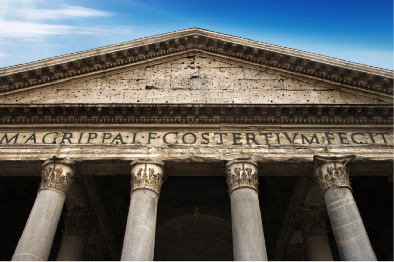 Knowledge of Latin helps students decode inscriptions on famous monuments, like the Pantheon