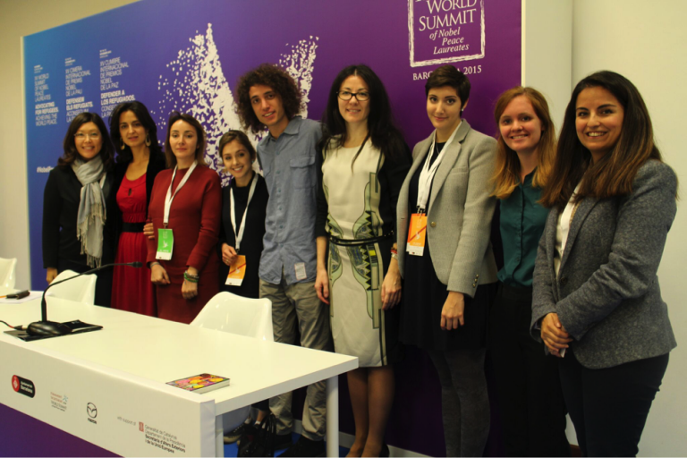 JCU students attend the 2015 World Summit of Nobel Peace Laureates in Spain.