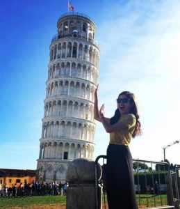 study abroad student in Pisa
