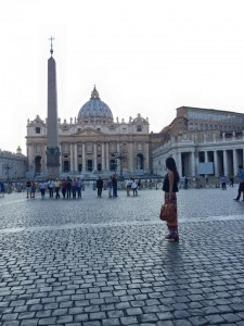 study abroad student at Vatican