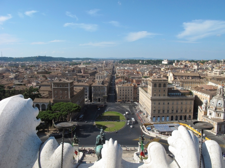 JCU students also enjoy the breathtaking view of Rome from atop the Altare della Patria