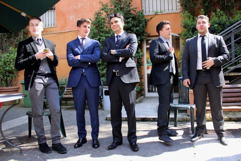 Business interns dressed for success