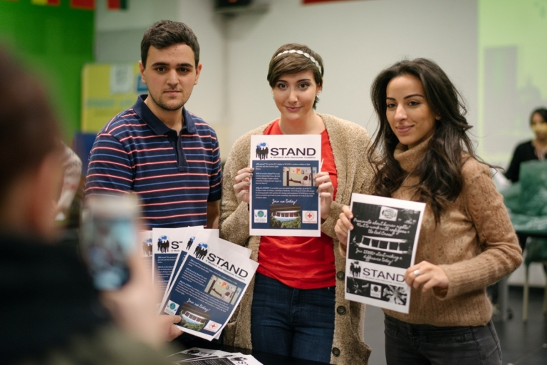 JCU students work together on their student anti-genocide coalition, STAND