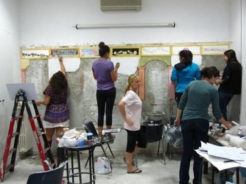 JCU students create their own art using various materials and techniques.