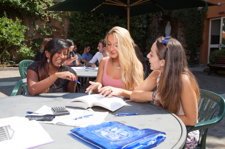 Students from all over the world come together to study at John Cabot University in Italy