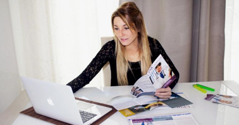 "JCU student Silvia Bezzi, creator of the blog ""Humans of John Cabot"""