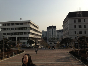 korea university school building, korea university, study abroad, from Rome to Korea, John cabot exchange program
