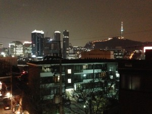 seoul view, study abroad, traveling as a study abroad student, John cabot exchange program