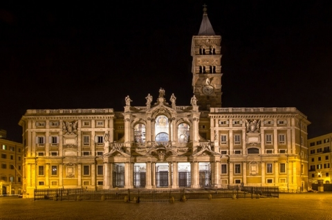 The Basilica of Santa Maria Maggiore had the first Christmas mass