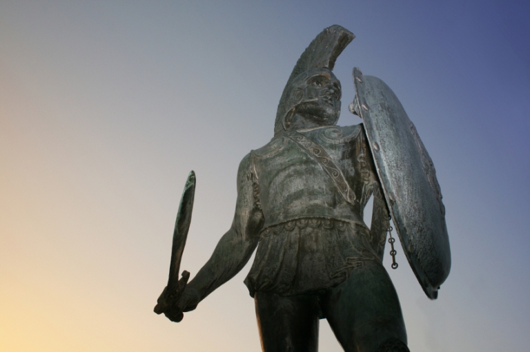 King Leonidas, Sparta, Understanding Ancient Societies with the History and Classical Studies Programs, study abroad in Rome, jcu classical studies majors, American university in Rome