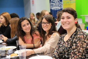 Welcome Dinner: JCU Class of 2018, study abroad in Rome, italy, italian food