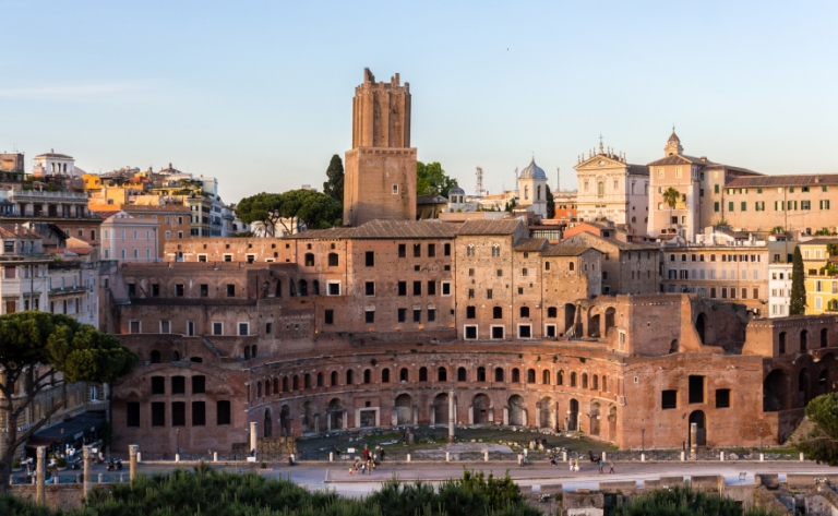 Trajan's Market in Rome, Italy, Study in Rome, Insider Access: Little Known Facts about Rome, jcu students at the colosseum, study abroad in Rome