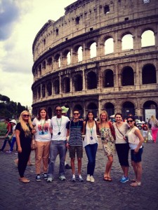 Study in Rome, Insider Access: Little Known Facts about Rome, jcu students at the colosseum, study abroad in Rome