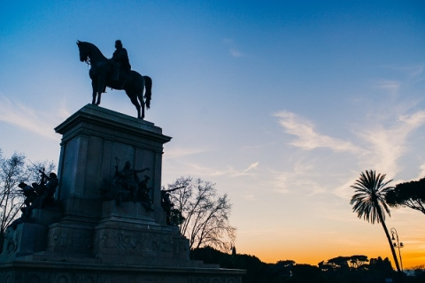 Students will be able to visit the nearby Garibaldi monument on Janiculum Hill