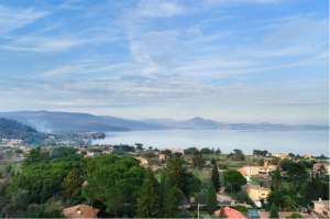 A small town on the shores of beautiful Lake Bracciano