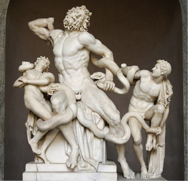 Laocoön and His Sons on display at the Vatican Museums, The Creation of Adam by Michelangelo on the Sistine Chapel ceiling, 4 Must-See Ancient Roman Works of Art, italian art history, study abroad in Rome, study art in Rome