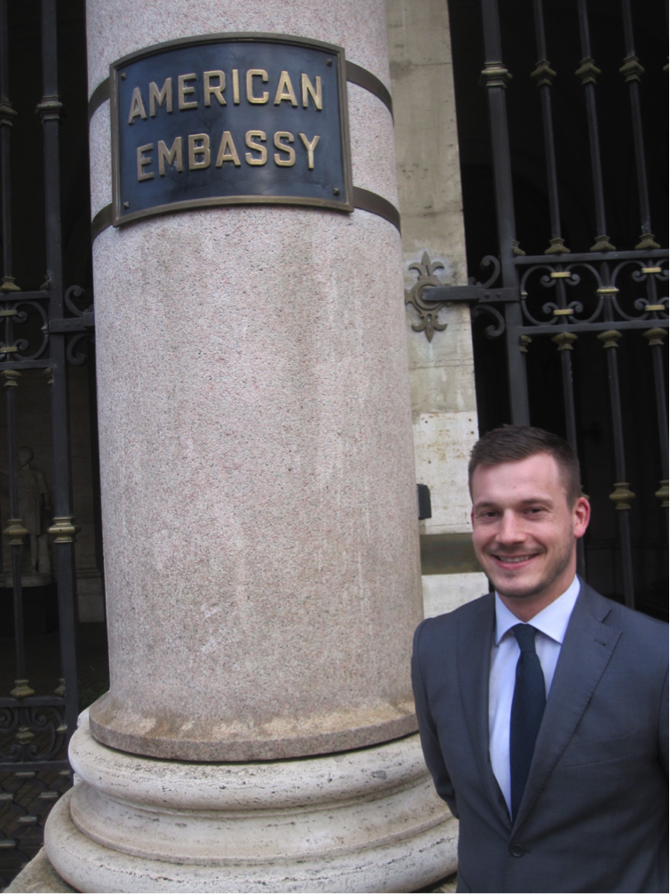 JCU student intern at the American Embassy in Rome