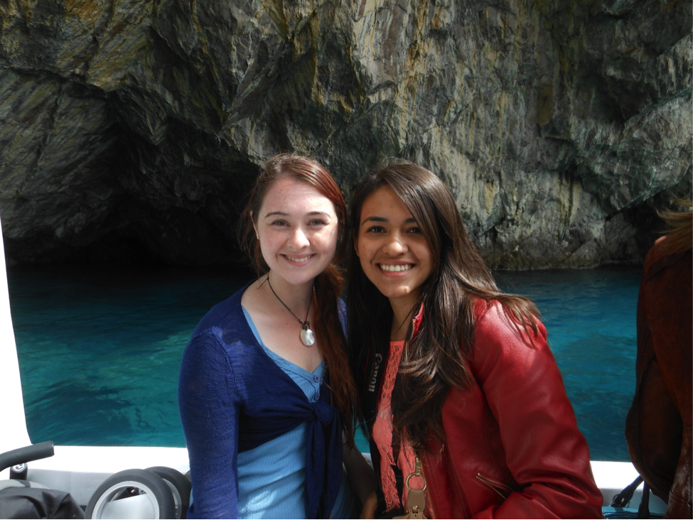 JCU students on boat tour in Sapri