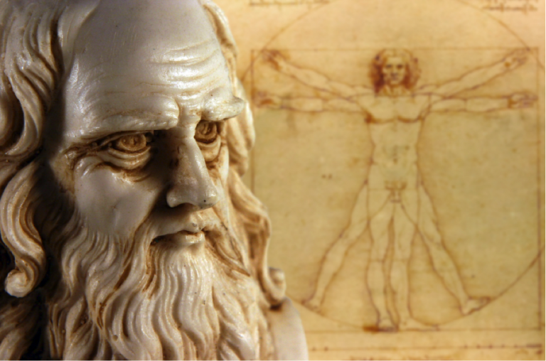 "Da Vinci's famous ""Vitruvian Man"" depicts precise human proportions, Study in Rome, Influential Artists of the Italian Renaissance, study in italy, italian art history, jcu students, study abroad, Study in Rome, Influential Artists of the Italian Renaissance, study in italy, italian art history, jcu students, study abroad, Villa Farnesina"