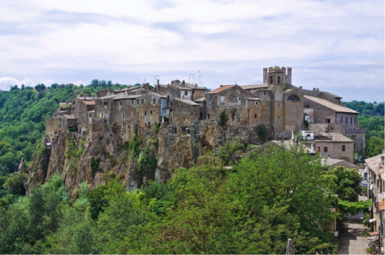 The medieval town of Calcata, Italy.