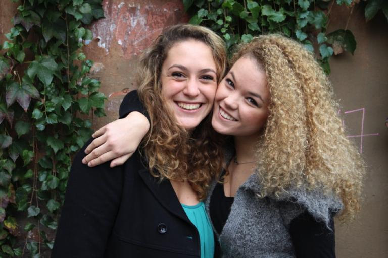 Two John Cabot University students at the Guarini Campus