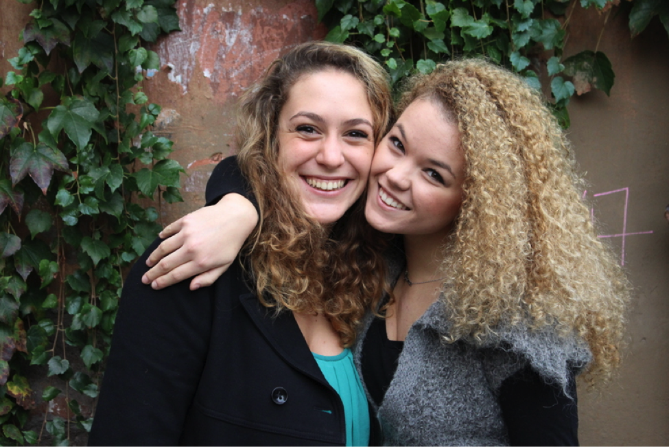Two John Cabot University students at the Guarini Campus, Ways to Meet New People while you Study Abroad in Rome, making friends in college, international schools in Rome