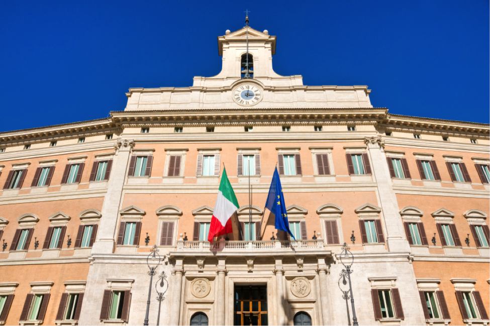 Montecitorio, home of the Chamber of Deputies of the Italian parliament