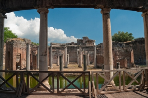 Ruins of Hadrian's Villa, which spans over 300 acres