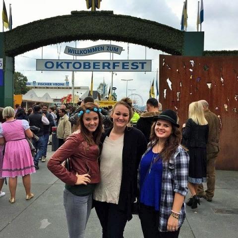 Oktoberfest in Munch is great to visit alongside friends from John Cabot University
