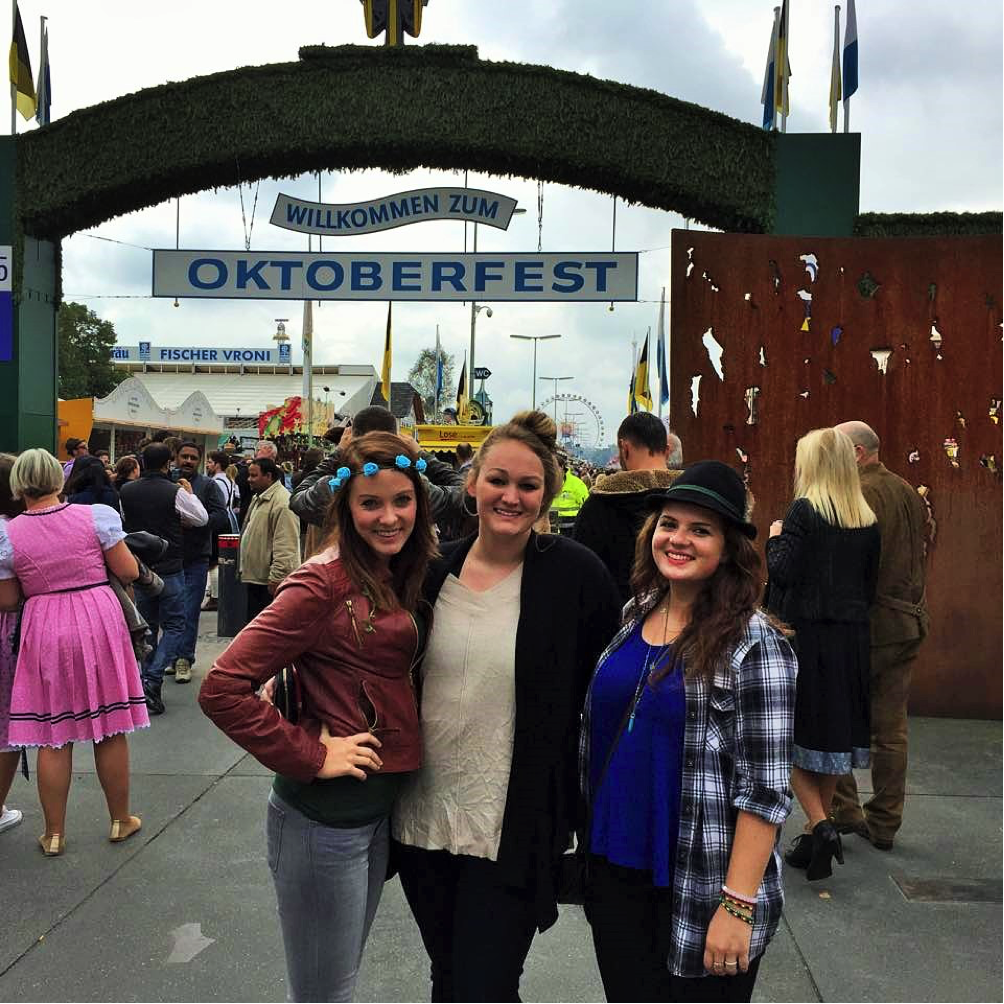 John Cabot University study abroad students visit Oktoberfest in Munich.