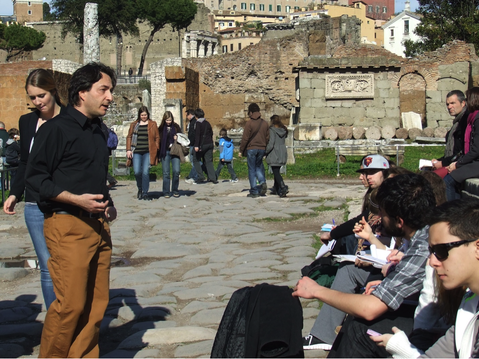 JCU students enrich their understanding of ancient Rome by attending class on-site, among the ruins.