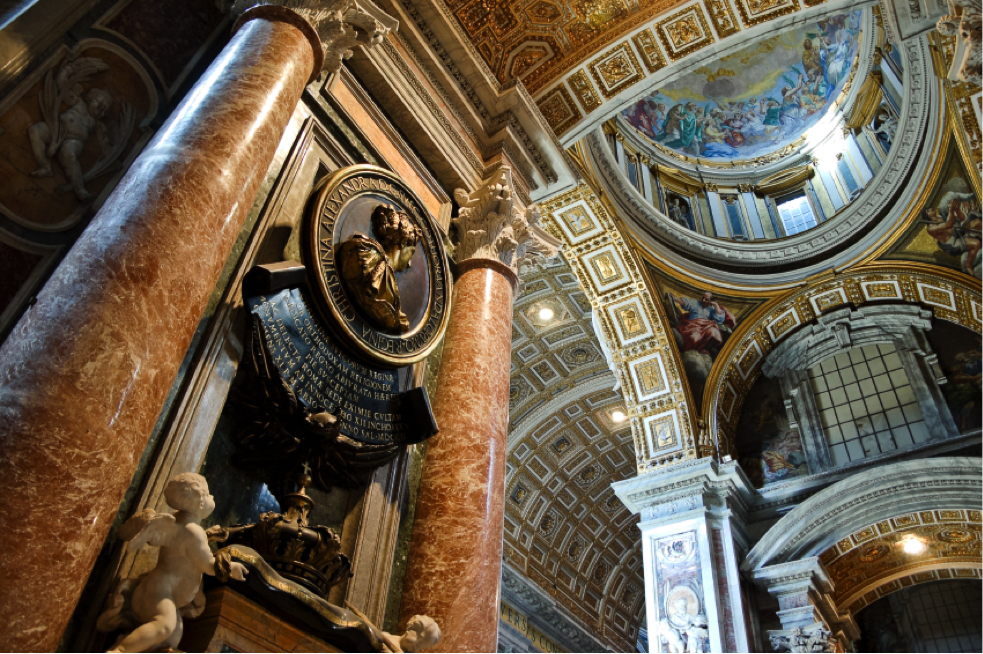 Interior view of St. Peter's Basilica
