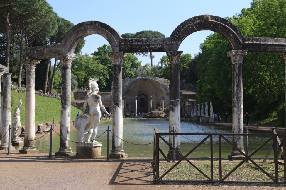 Ruins of Hadrian's Villa,  historical sites in Rome, UNESCO World Heritage Sites to Visit While in Rome, JCU student experiences, study abroad in Rome, JCU weekend trips, study abroad trips, Tivoli