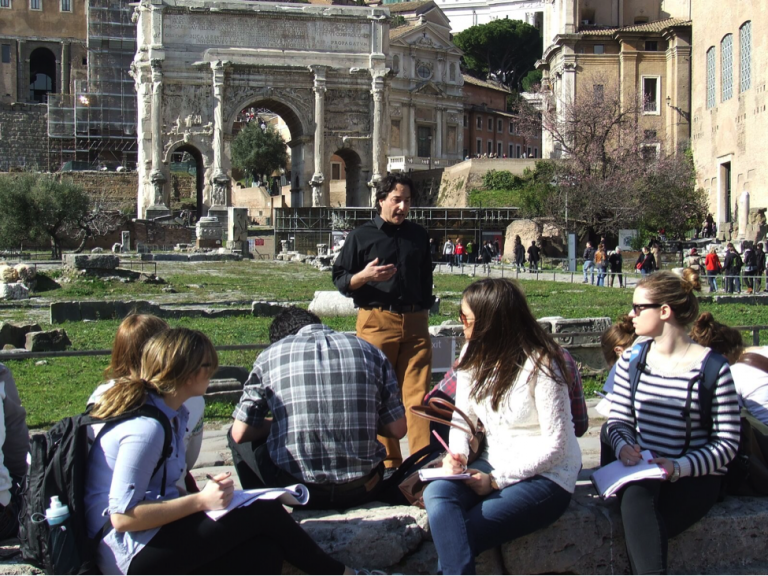 Ruins of Hadrian's Villa,  historical sites in Rome, UNESCO World Heritage Sites to Visit While in Rome, JCU student experiences, study abroad in Rome, JCU weekend trips, study abroad trips, Rome Forum, JCU on-site classes