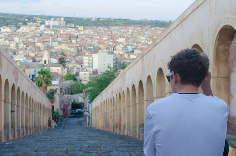 American Student in Sicily, Study Abroad Student Spotlight, Mike Kalmeta, JCU Class of 2018, study abroad in Rome, American universities in Italy