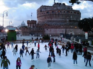 ice skating in Rome, Things to do in Rome in December, study abroad in Rome,