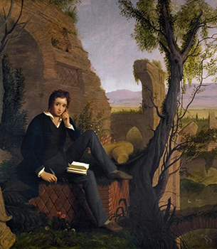 "Shelley Composing ""Prometheus Unbound"" in the Baths of Caracalla"