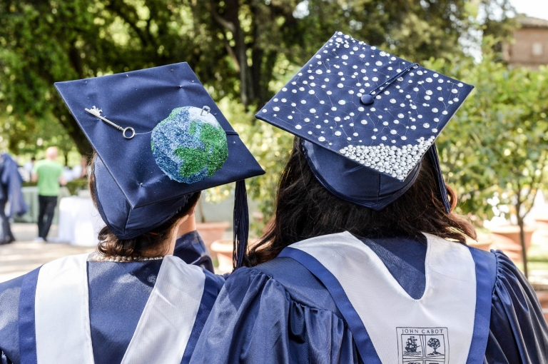 Study International Affairs in Italy, 4 Career Paths for Those Who Study International Affairs in Italy, jcu international affairs, John cabot graduation ceremony, graduation, study abroad in Rome