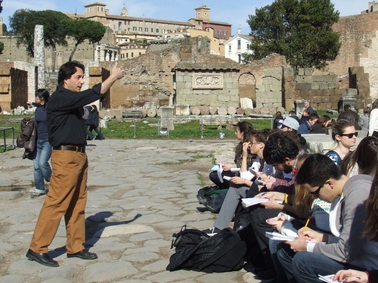 Study Art History in Rome, Insights for Art History Students in Rome, study abroad in Rome, jcu on-site class, art history majors