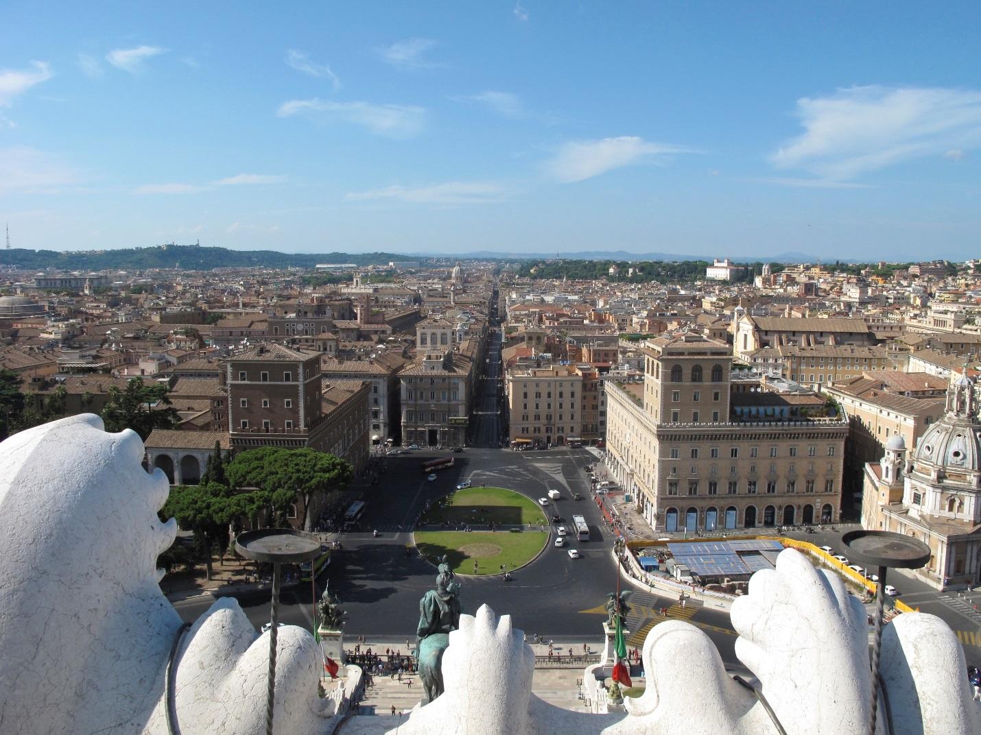 JCU students also enjoy the breathtaking view of Rome from atop the Altare della Patria