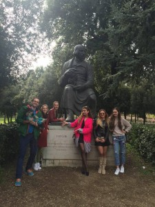 Walking Tour dedicated to Nikolay Gogol, russian speaking students jcu, russian students in Italy, Nikolay Vasilievich Gogol